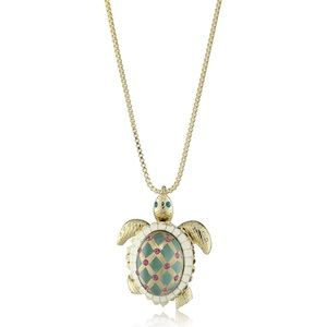 NWT Betsey Johnson Sea Excursion Turtle Necklace
